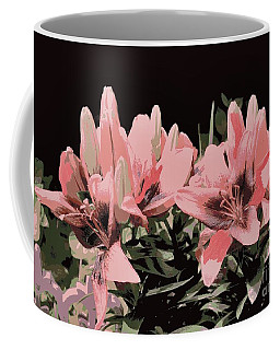 Digitalized Lilies Coffee Mug