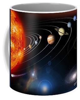 Digitally Generated Image Of Our Solar Coffee Mug