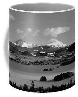Coffee Mug featuring the photograph Dillon In Winter Bw by Marie Leslie