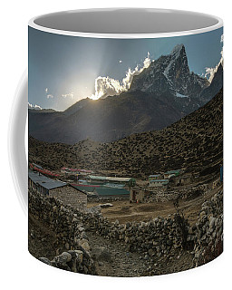 Coffee Mug featuring the photograph Dingboche Evening Sunrays by Mike Reid