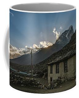 Coffee Mug featuring the photograph Dingboche Nepal Sunrays by Mike Reid