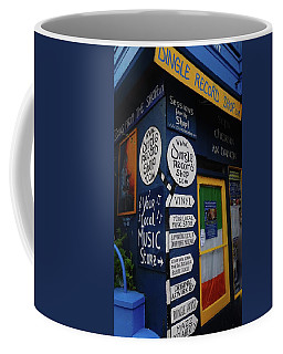 Coffee Mug featuring the photograph Dingle Record Shop by Melinda Saminski