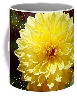 Dinner Plate Dahlia In Starry Sky Coffee Mug
