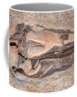 Dinosaur Skull And Teeth In Rock - Utah Coffee Mug by Gary Whitton