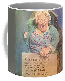 Disability Protester Remembers Cecilia Burns Coffee Mug