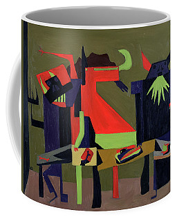 Coffee Mug featuring the painting Disfeastitia by Ryan Demaree