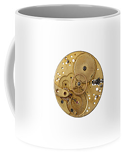 Coffee Mug featuring the photograph Dismantled Clockwork Mechanism by Michal Boubin