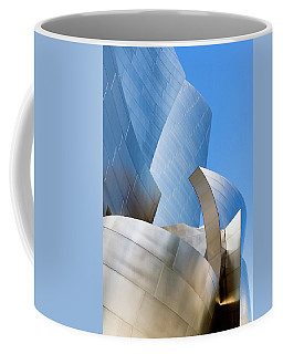 Coffee Mug featuring the photograph Disney Hall In Blue And Silver by Lorraine Devon Wilke