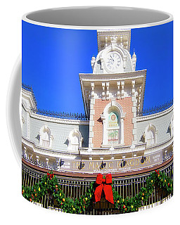 Coffee Mug featuring the photograph Disney Railroad Station by Mark Andrew Thomas
