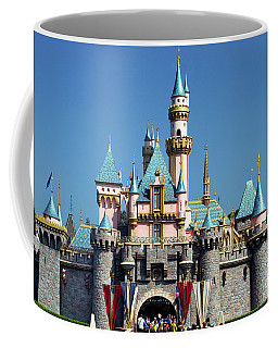 Coffee Mug featuring the photograph Disneyland Castle by Mariola Bitner
