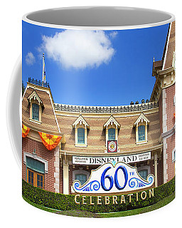 Coffee Mug featuring the photograph Disneyland Entrance by Mark Andrew Thomas