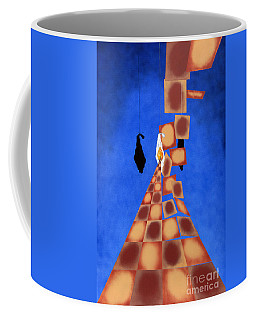 Disrupted Egg Path On Blue Coffee Mug