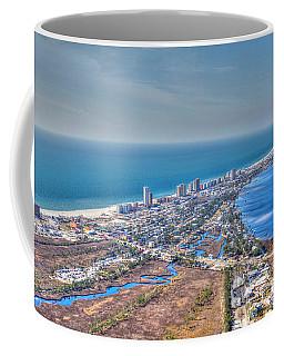 Distant Aerial View Of Gulf Shores Coffee Mug