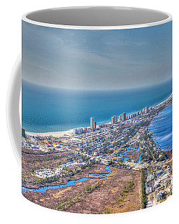 Distant Aerial View Of Gulf Shores Coffee Mug