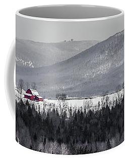 Distant Red Barn Coffee Mug