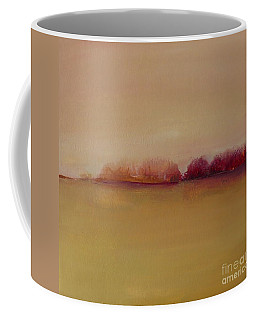Distant Red Trees Coffee Mug