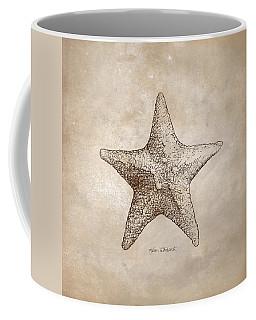 Distressed Antique Nautical Starfish Coffee Mug