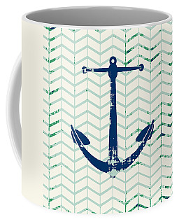 Distressed Navy Anchor V2 Coffee Mug