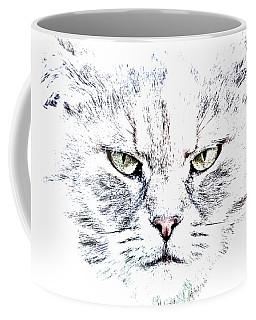 Disturbed Cat Coffee Mug
