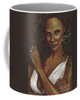Coffee Mug featuring the painting Diva by Alga Washington