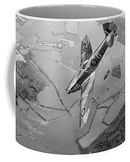 Dive Bombing Spitfire Bw Version Coffee Mug by Gary Eason