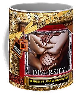 Coffee Mug featuring the digital art Diversity by Kathy Tarochione