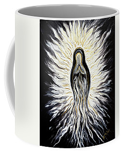 Divine Mother Black And White Coffee Mug