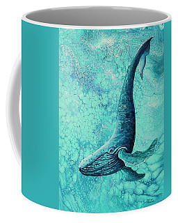 Coffee Mug featuring the painting Diving Into Blue by Darice Machel McGuire