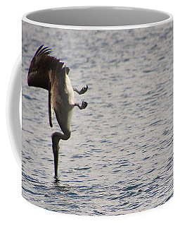Diving Pelican Coffee Mug by Laurel Talabere