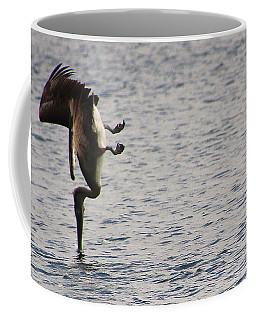 Diving Pelican Coffee Mug