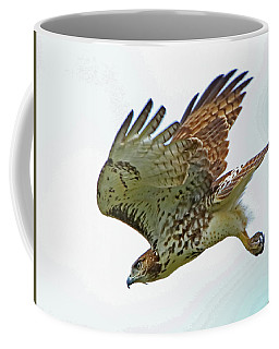 Diving Red-tailed Hawk Coffee Mug