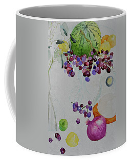 Coffee Mug featuring the painting Django's Grapes by Beverley Harper Tinsley