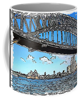 Coffee Mug featuring the photograph Do-00058 Sydney Harbour Bridge And Opera House by Digital Oil