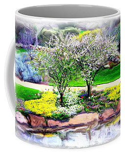 Coffee Mug featuring the photograph Do-00066 Lake Walk by Digital Oil