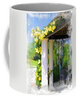Coffee Mug featuring the photograph Do-00137 Yellow Roses by Digital Oil