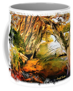Coffee Mug featuring the photograph Do-00268 Trees On Water In Avoca Estuary by Digital Oil