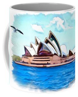 Coffee Mug featuring the photograph Do-00293 Sydney Opera House by Digital Oil