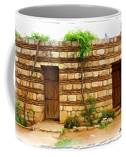 Coffee Mug featuring the photograph Do-00305 Old Hutt In Anjar by Digital Oil