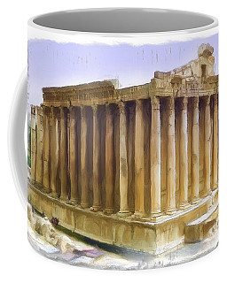 Do-00312 Temple Of Bacchus In Baalbeck Coffee Mug