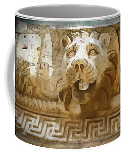 Do-00313 Lion Water Feature Coffee Mug by Digital Oil