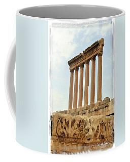Do-00314 The 6 Corinthian Columns In Baalbeck Coffee Mug by Digital Oil