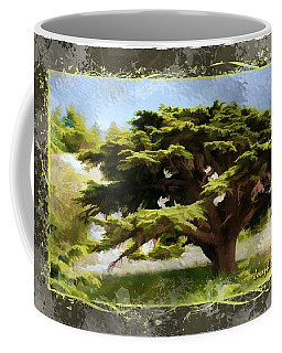Do-00318 Cedar Barouk - Framed Coffee Mug by Digital Oil