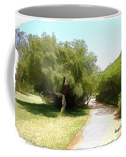Coffee Mug featuring the photograph Do-00336 -pathway Bois Des Pins by Digital Oil