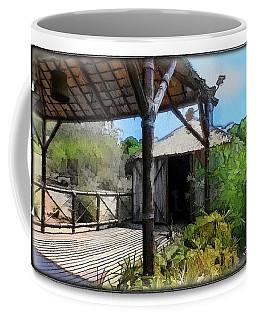 Coffee Mug featuring the photograph Do-00342 Terrace Bois Des Pins by Digital Oil