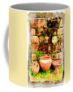 Coffee Mug featuring the photograph Do-00348 Jars In Byblos by Digital Oil