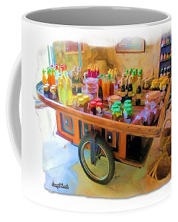 Coffee Mug featuring the photograph Do-00391 Wheel Stand by Digital Oil