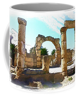 Coffee Mug featuring the photograph Do-00408 Colonnades In Tyr by Digital Oil
