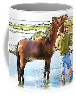 Do-00421 Washing Horse In Mina Coffee Mug by Digital Oil
