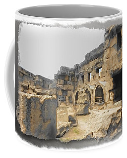 Coffee Mug featuring the photograph Do-00452 Inside The Ruins by Digital Oil