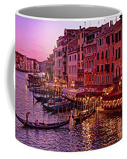A Cityscape With Vintage Buildings And Gondola - From The Rialto In Venice, Italy Coffee Mug
